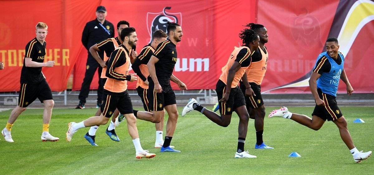 Bélgica en su último entreno previo al juego ante Francia