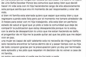 Se difunde supuesto video y comunicado de María José Ponce y su hija