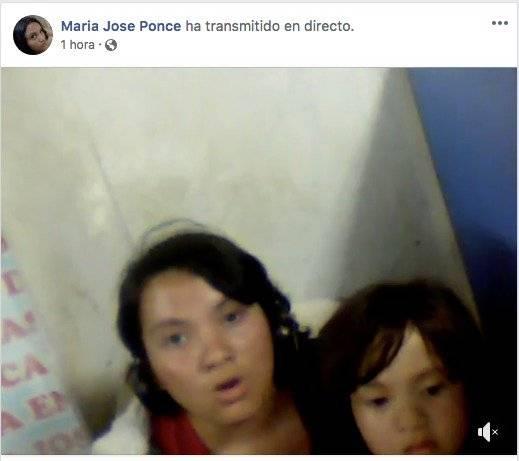 Se difunde supuesto video y comunicado de María José Ponce y su hija Facebook