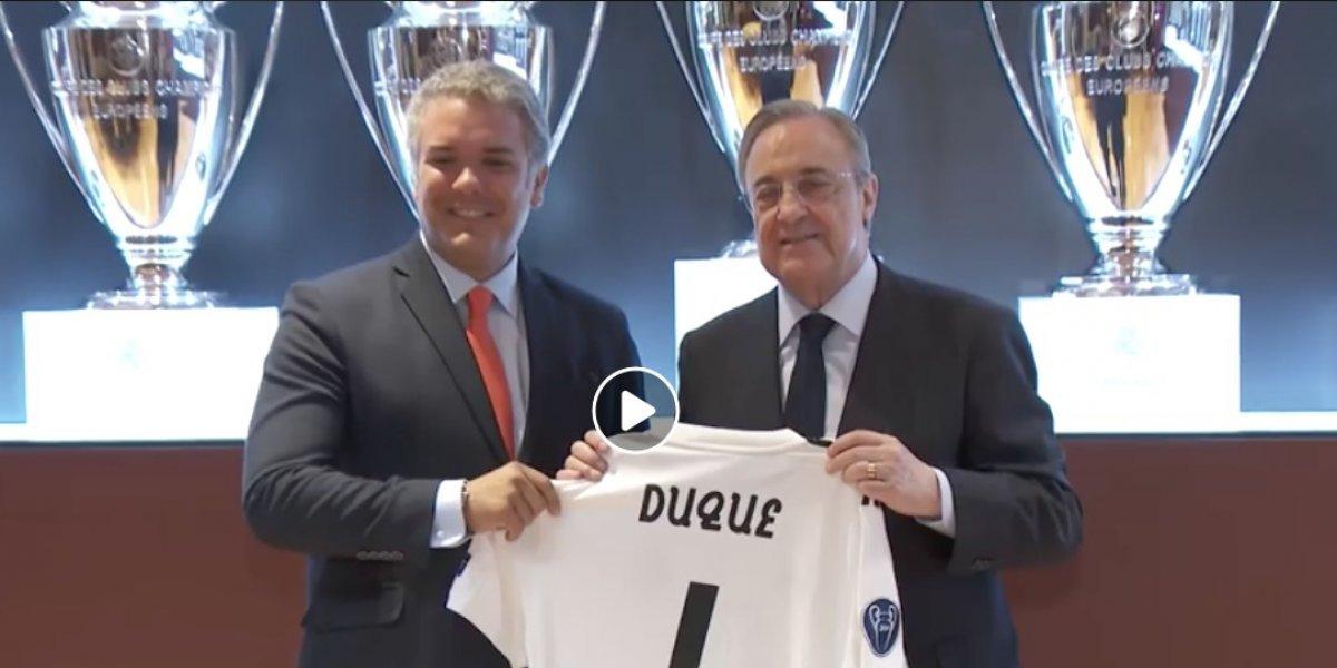 ¿Malo pal fútbol? Así le fue a Iván Duque jugando con Florentino en el Bernabéu