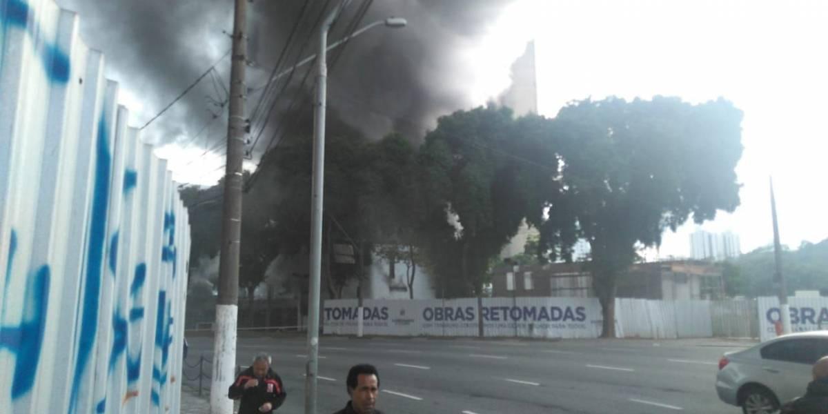 Incêndio atinge Paço Municipal de São Bernardo do Campo