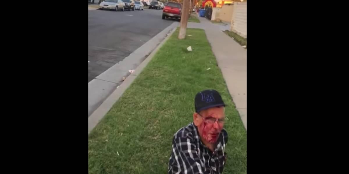 VIDEO. Golpean a anciano de 92 años en Los Ángeles