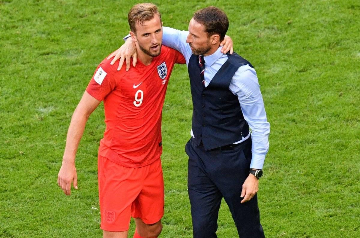 Harry Kane y el técnico inglés