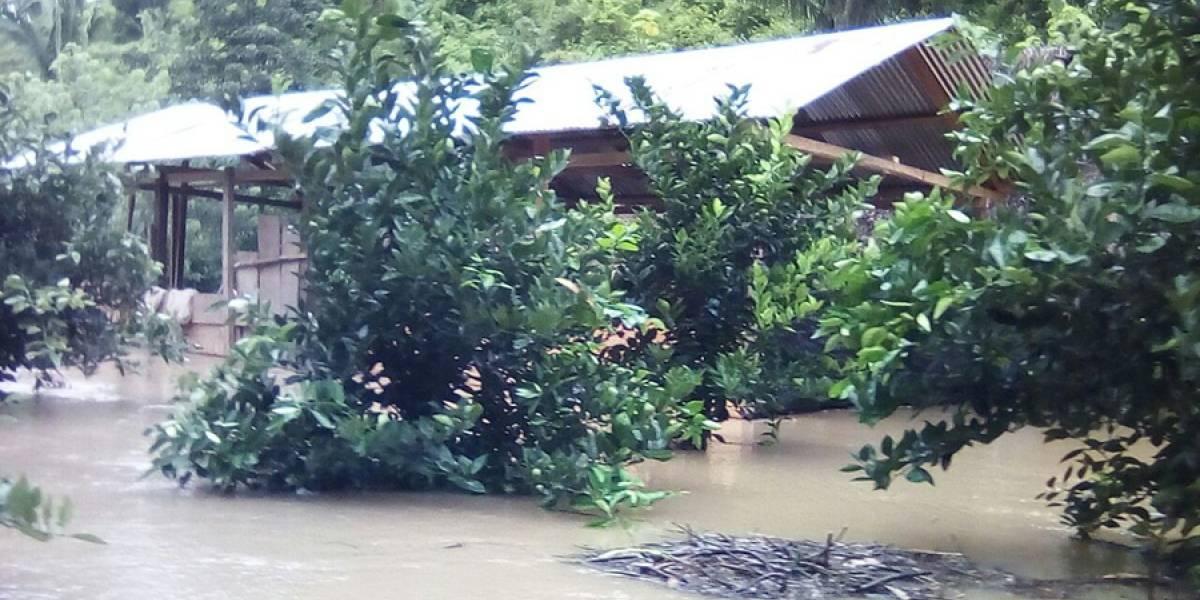 Se reportan inundaciones en Izabal y Petén tras fuertes lluvias