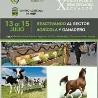 Expo Agro 2018 abre sus puertas para reactivar el sector agropecuario. La feria será en el Centro Agrícola del cantón Mejía donde contará con más de 200 stands y se realizarán capacitaciones y actividades lúdicas.