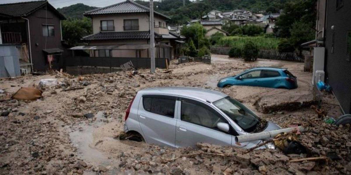 Las catastróficas inundaciones de Japón dejaron más de cien muertos
