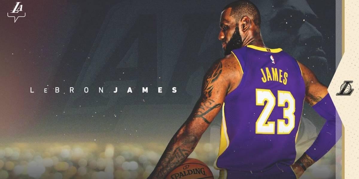 Los Lakers hacen oficial la llegada de LeBron James