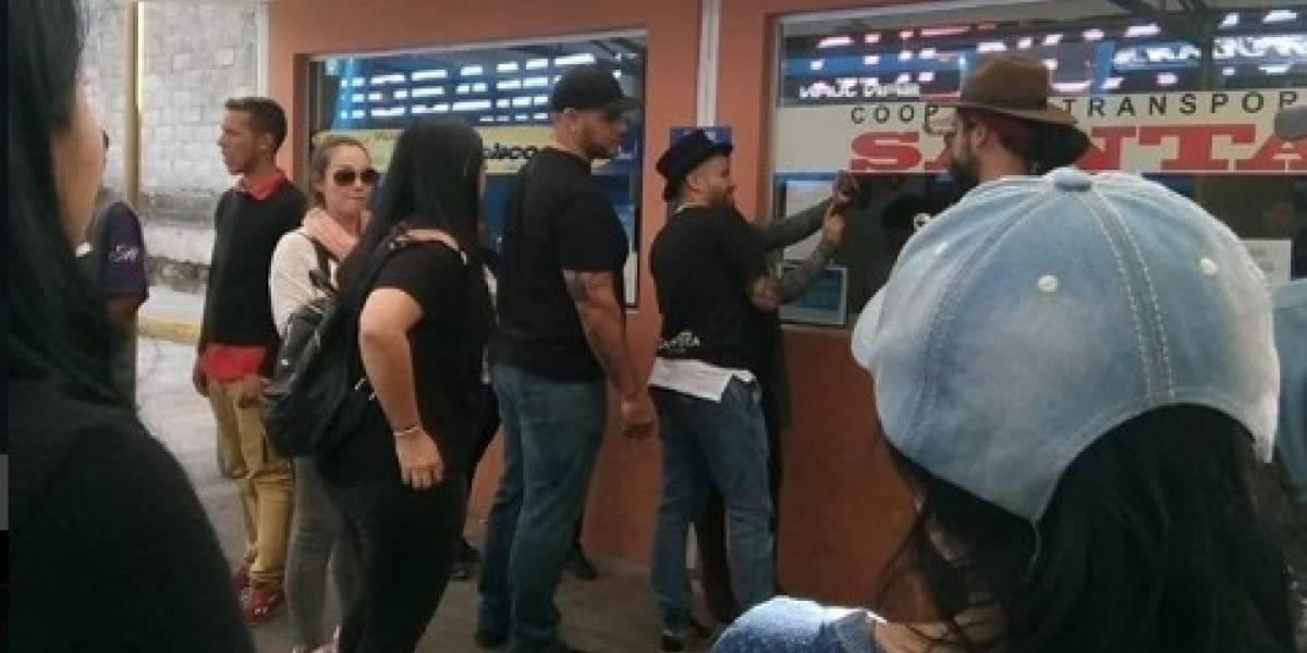 Nacho asistió a la terminal de Carcelén para visitar a extranjeros