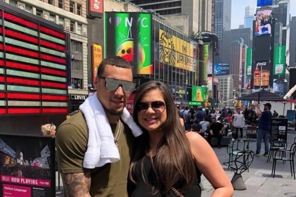 Javy Báez y su prometida