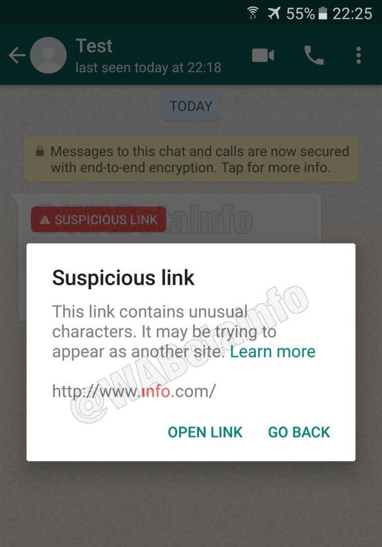 Whatsapp empezará a advertirte si recibes un enlace sospechoso