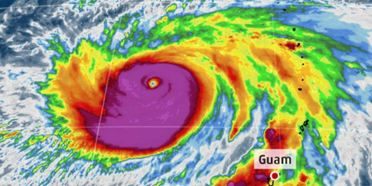 El poderoso supertifón María amenaza a Japón y Taiwán