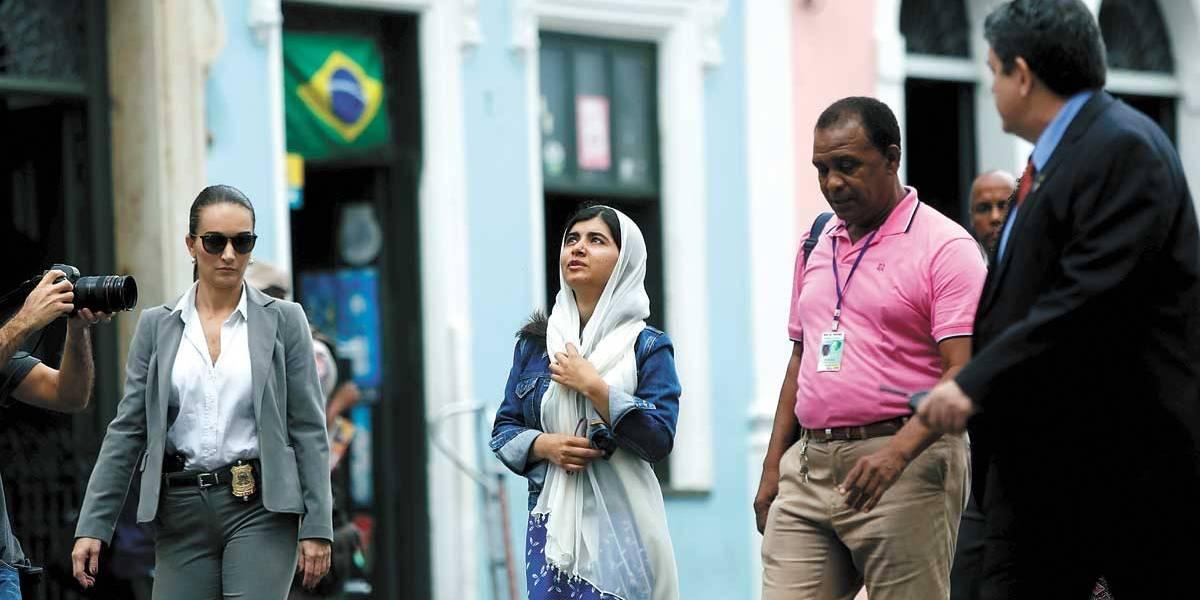 Após São Paulo, Malala visita Salvador