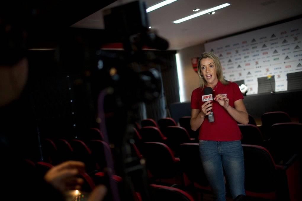 Gabriela Moreira, periodista de ESPN que forma parte del #DeixaElaTrabalhar / Foto: AP