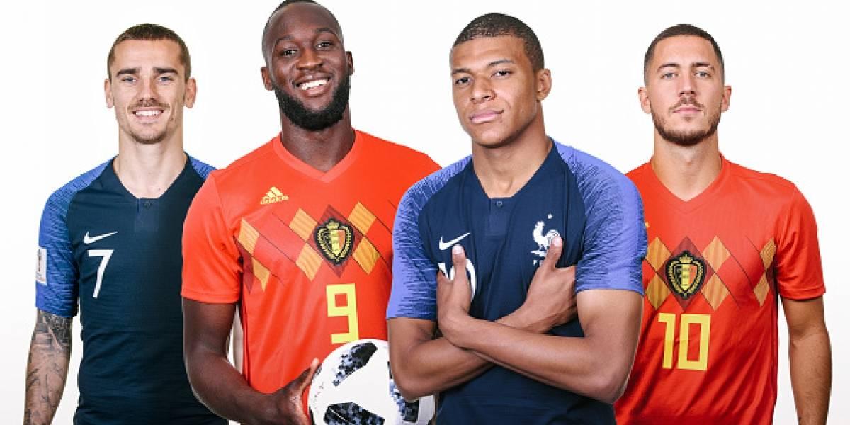 Francia vs Bélgica: En alerta los franceses porque Mbappé no participó en último entrenamiento