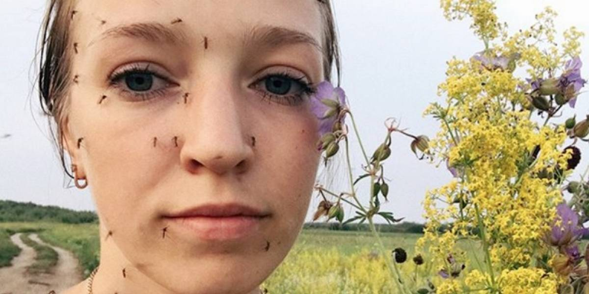 Una impresionante selfie con mosquitos desencadena debates en Rusia