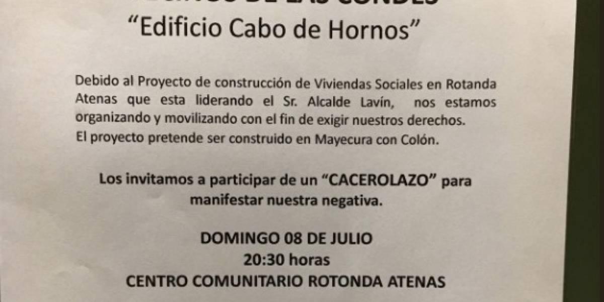 """""""Vamos a tener ropas tendidas por todos lados"""": vecinos de Las Condes siguen en pie de guerra con Lavín por proyecto de viviendas sociales"""