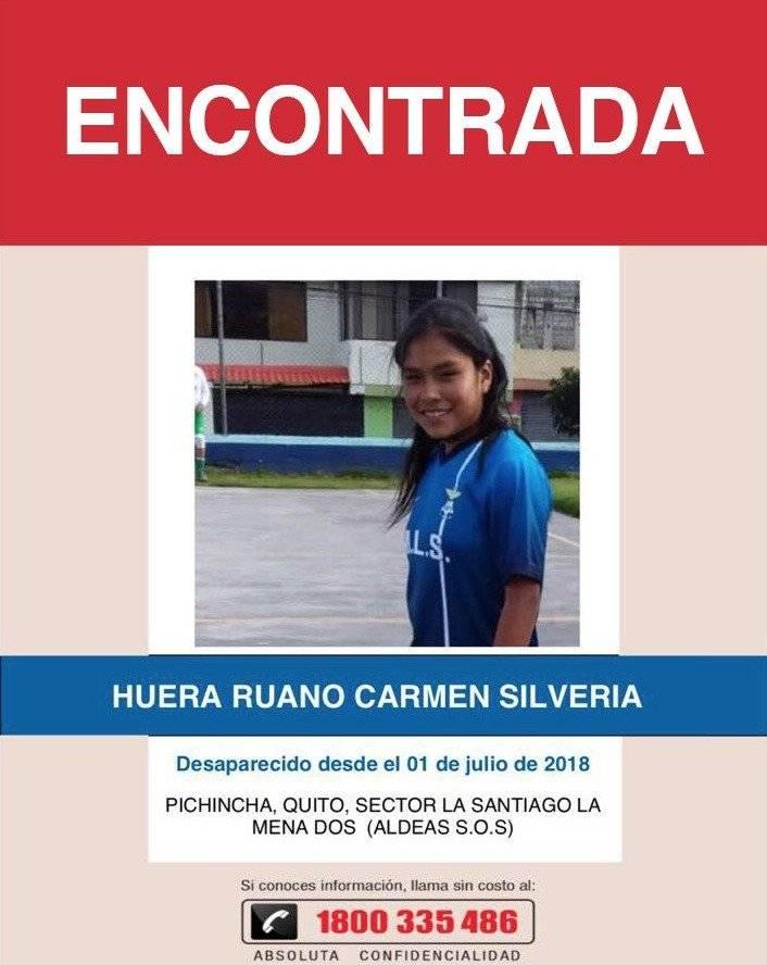 Policía Nacional encuentra a cuatro niñas que estaban desaparecidas en Quito Twitter Policia