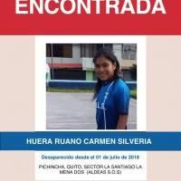 Policía Nacional encuentra a cuatro niñas que estaban desaparecidas en Quito
