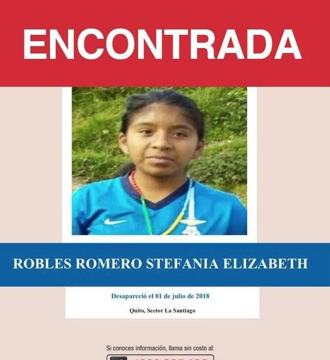 Policía Nacional encuentra a cuatro niñas que estaban desaparecidas en Quito Twitter Policía Ecuador