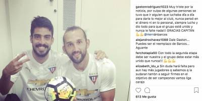 Gastón Rodríguez dijo que hay culpables de la salida de Hernán Barcos
