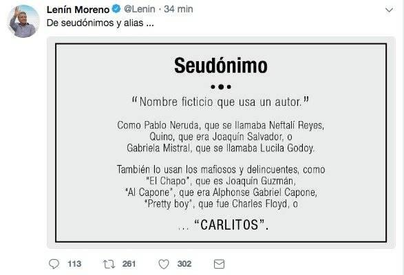 La indirecta del presidente Lenín Moreno a...