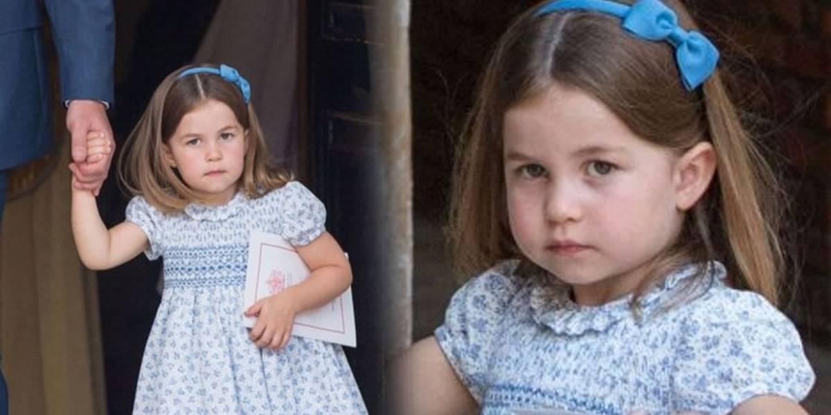 El épico momento en el que la Princesa Charlotte le dice a los paparazzis: ¡Ustedes no entran al bautizo de mi hermanito!