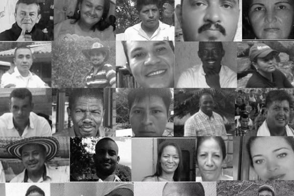 Líderes asesinados en Colombia