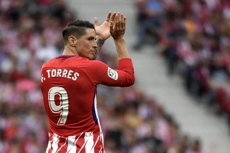 Torres en su último partido con la camiseta del Atlético de Madrid