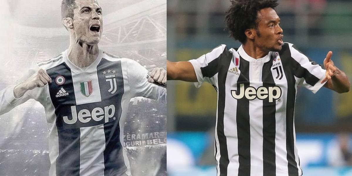 Juan Guillermo Cuadrado es blanco de burlas por llegada de Cristiano Ronaldo a Juventus