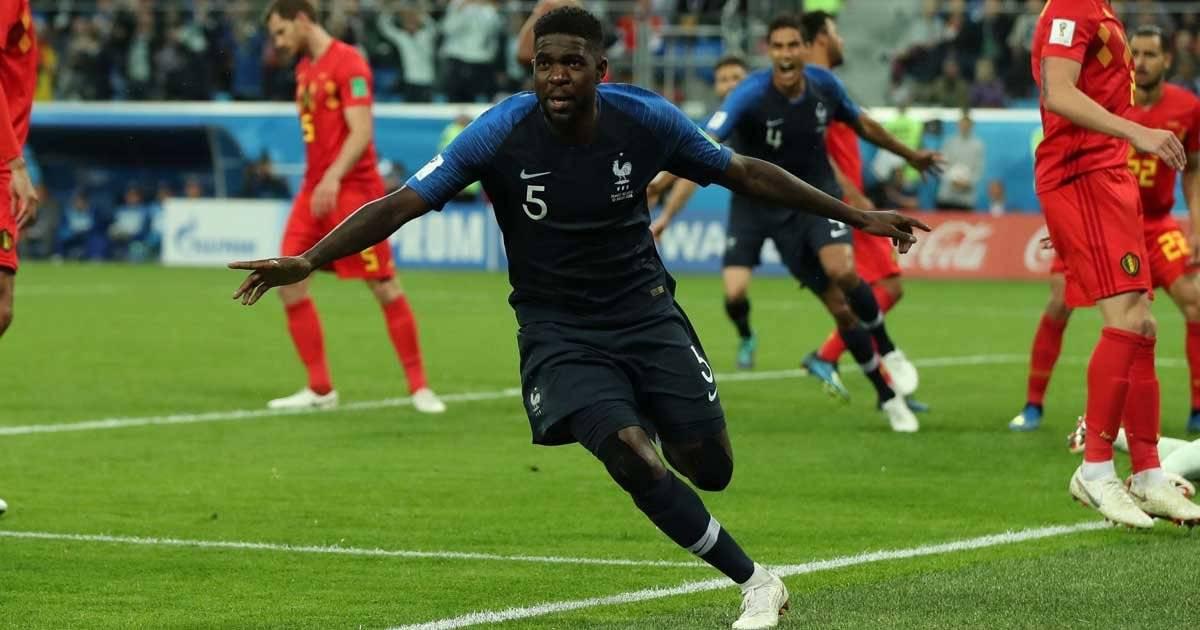 Gol da França x Bélgica