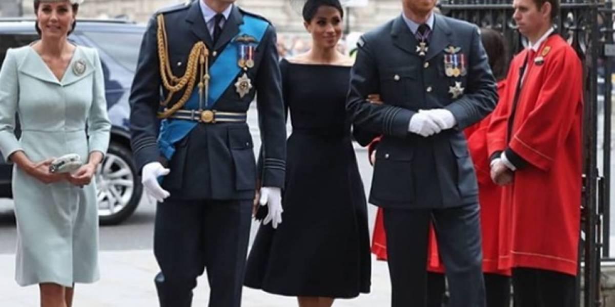 El gesto cómplice entre Kate Middleton y Meghan al que se unió la reina Isabel