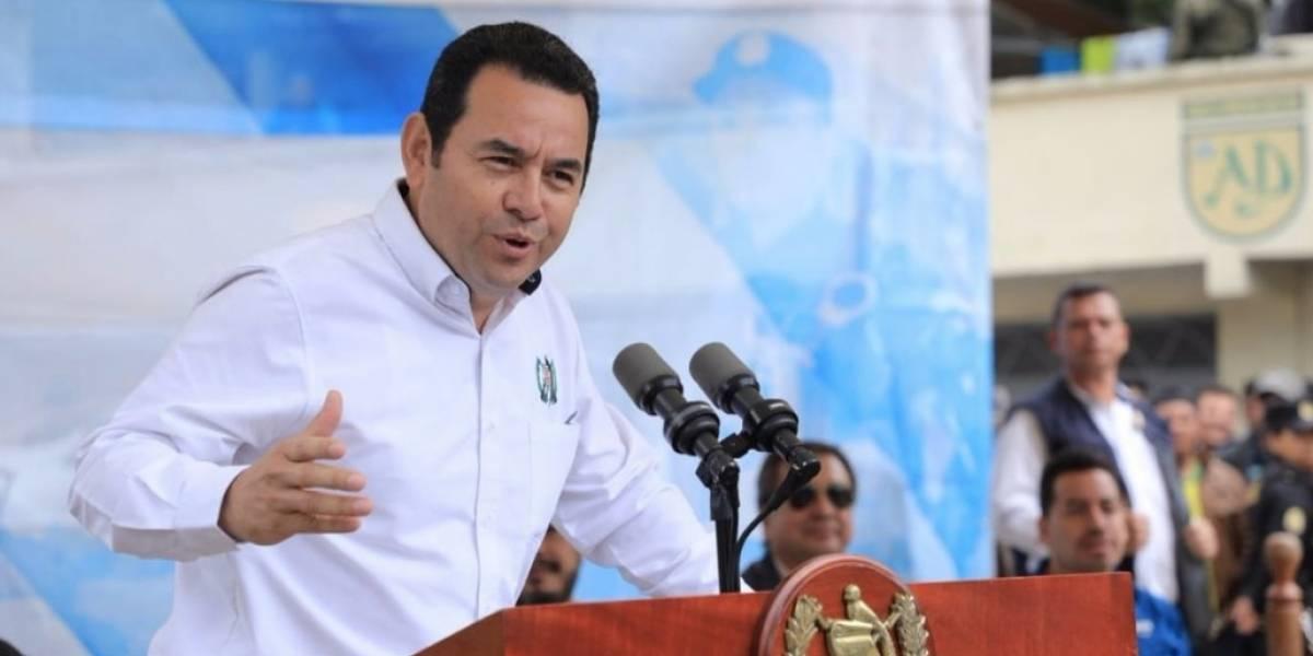 """Presidente Jimmy Morales """"No se dejen llevar por lo que algunos dicen o algunas mentiras que se publican"""""""