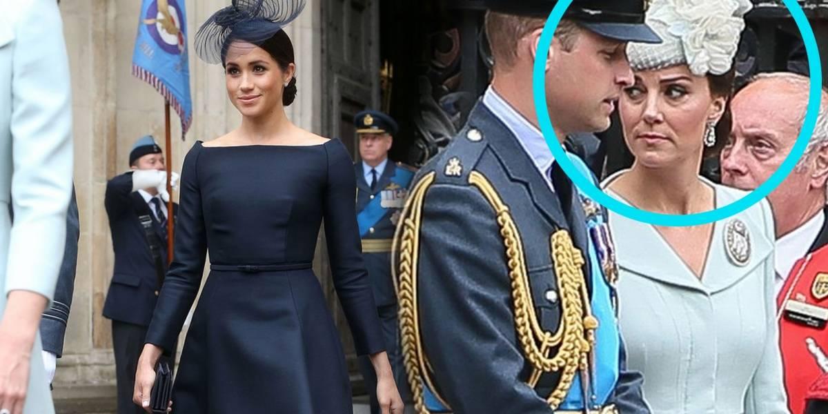 La mirada fulminante que le dio Kate Middleton a Meghan Markle por posar tanto