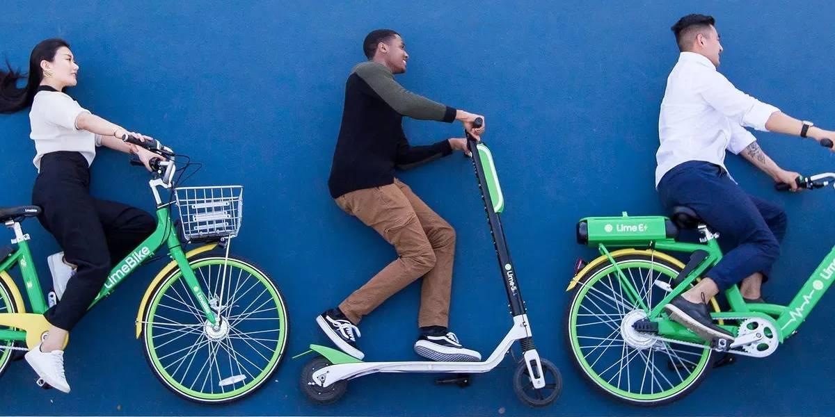 Uber invierte en Lime para rentar scooters y bicicletas