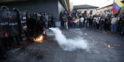 Incidentes en marcha Rafael Correa