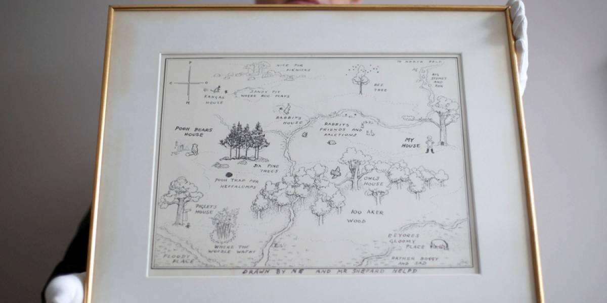 Mapa de Winnie the Pooh rompe récord en subasta