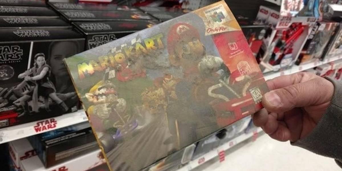 Encuentran caja de Mario Kart 64 que por años estuvo bajo un estantería en Toys R Us