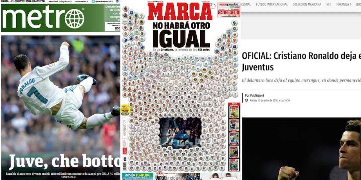 Así reaccionó la prensa internacional por la salida de Cristiano Ronaldo del Real Madrid