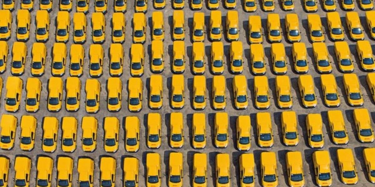 Invaden 230 RAM amarillas el patio de DHL México