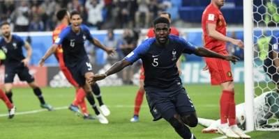 Umtiti inicia su particular celebración tras el gol