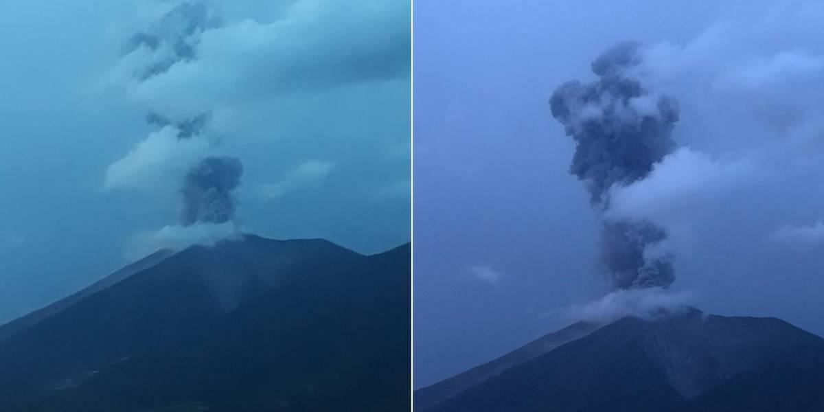 Volcán de Fuego registra fuerte explosión y lanza ceniza