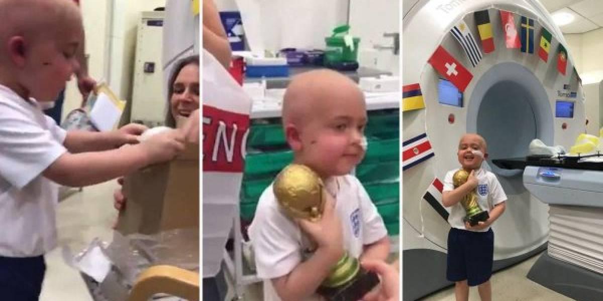 """Ben, el """"campeón"""" que recibió la """"Copa del Mundo """" por su lucha de supervivencia"""