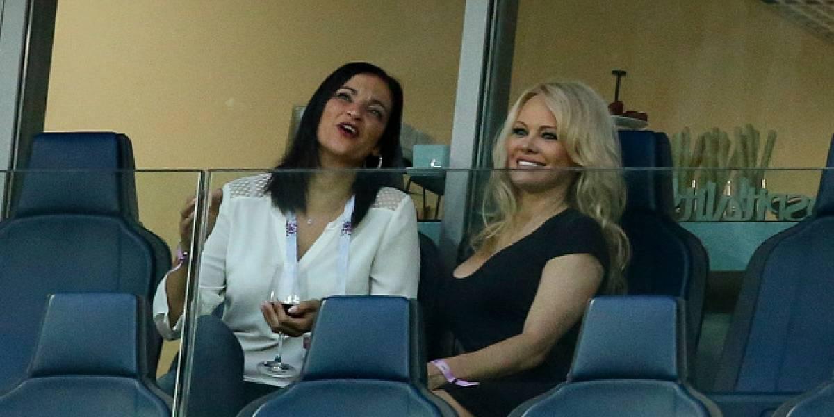Las fotos de Pamela Anderson apoyando a su novio, Adil Rami, en el Mundial Rusia 2018