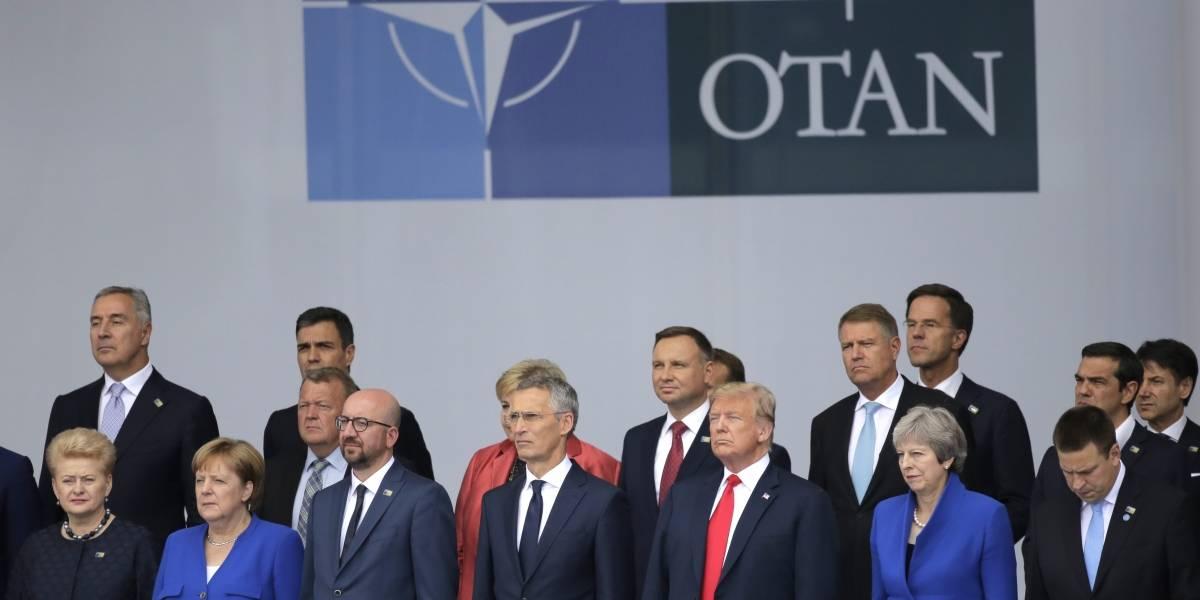 """Trump y Merkel discuten en la OTAN por supuesto """"control de Rusia"""""""