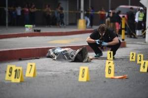 Hombre baleado en zona 6