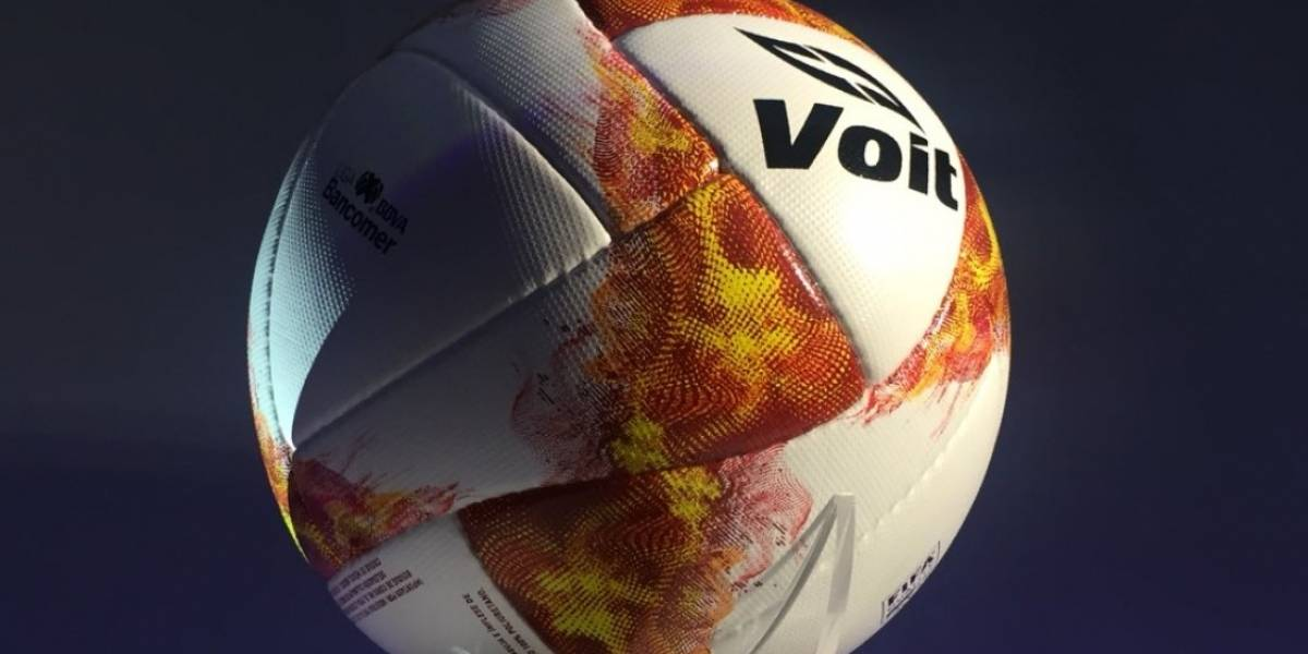 Apertura 2018 nuevo balón jugará Liga MX Voit Be the fire ... fae8921b12d04