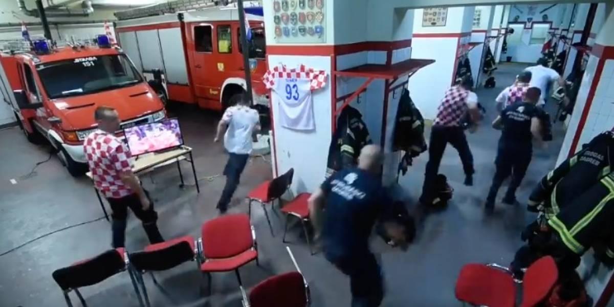 VIDEO: Los bomberos croatas que se perdieron los penaltis por atender un incendio