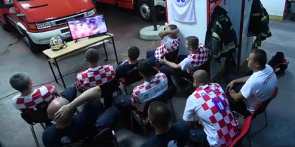 La reacción de los Bomberos de Croacia en medio de un partido