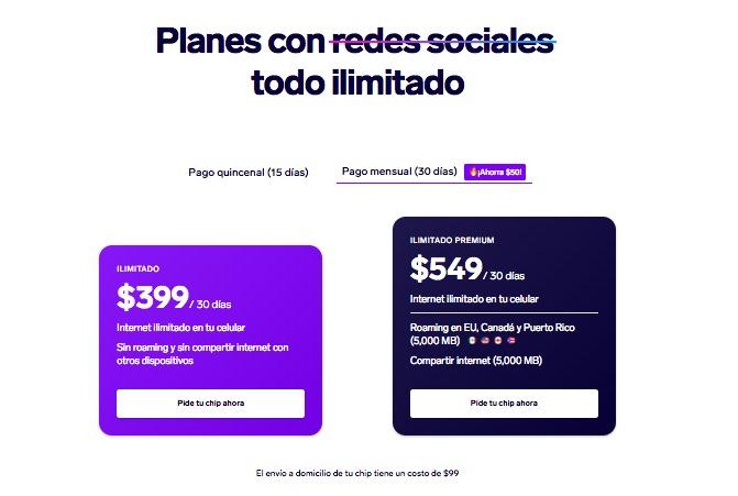 México: Una no muy conocida operadora mexicana está lanzando planes con Internet ilimitado