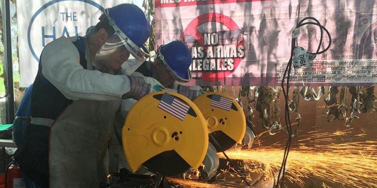 Ejército destruye armas de fuego decomisadas a estructuras delictivas